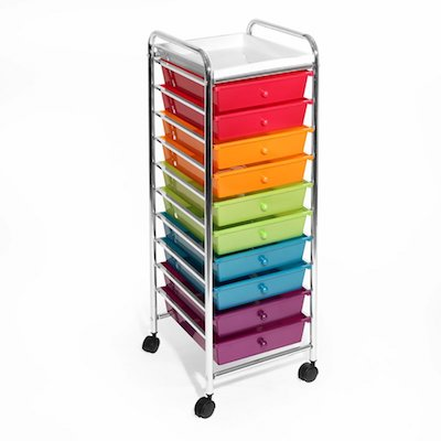 A Rainbow Organizer... on Wheels!